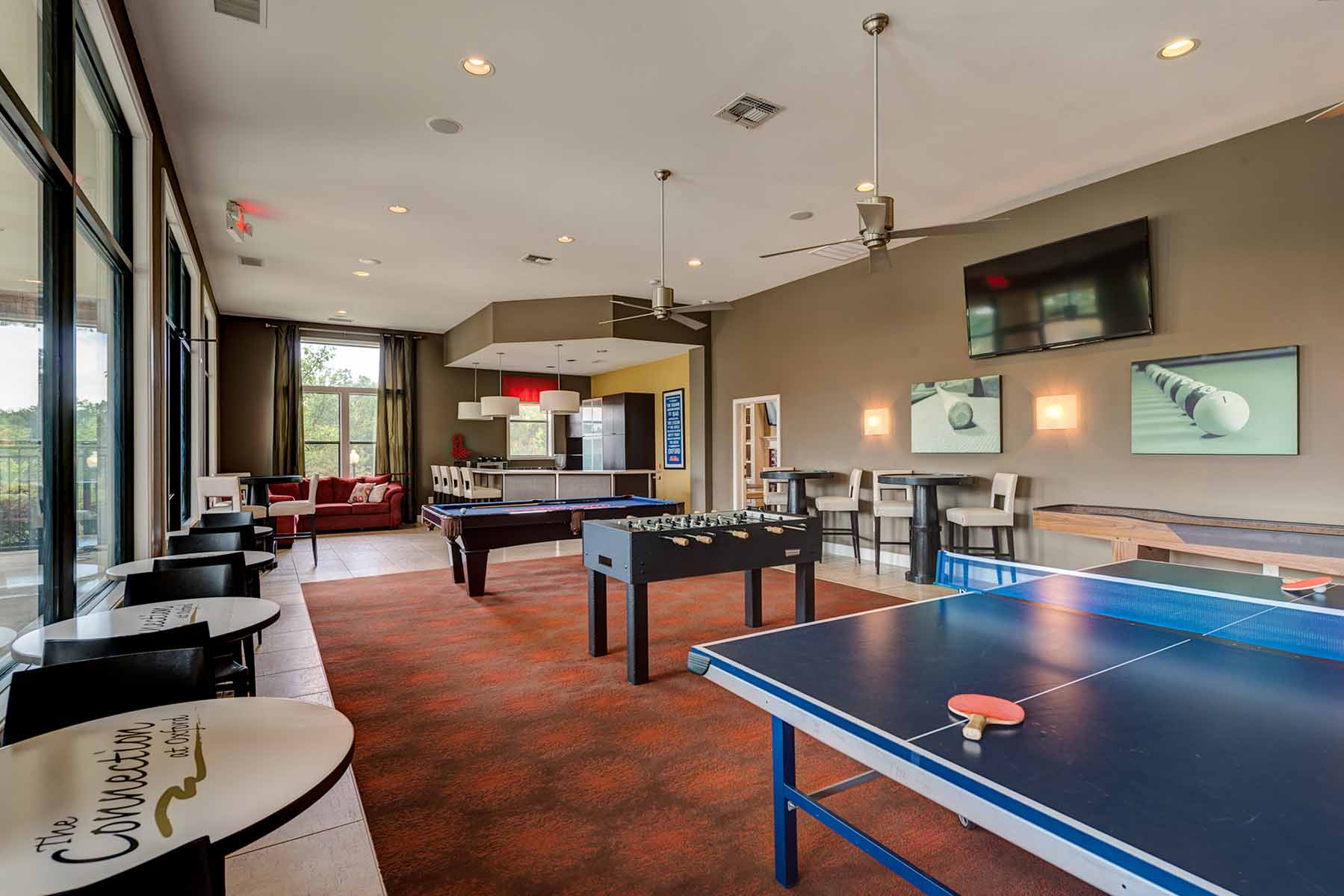 Clubhouse with Ping-Pong and Pool Table