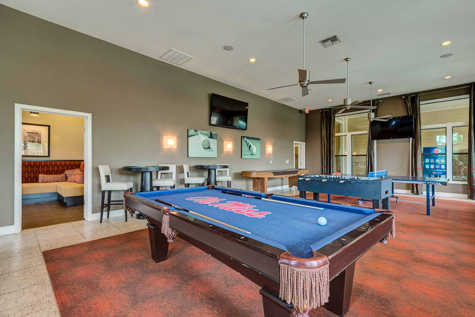 Game Room with Billiards Old Miss